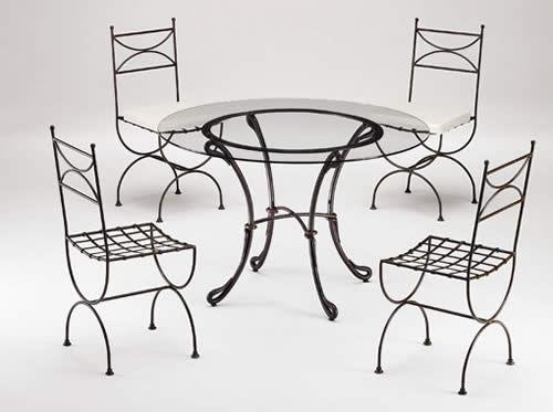 Fer bat prodotti vendita decorazioni in ferro battuto - Tavolo ferro battuto e vetro ...
