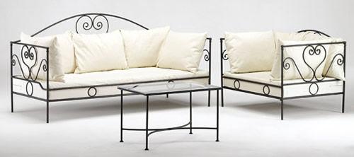 Fer bat prodotti vendita decorazioni in ferro battuto for Divani in ferro battuto