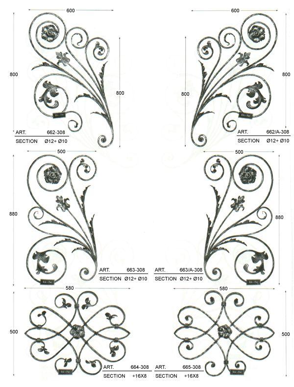 Produzione pannelli decorativi in ferro battuto